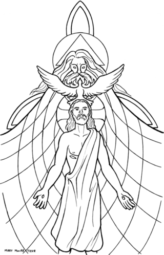 320x498 Holy Trinity Catholic Coloring Page The Holy Spirit Descended Upon