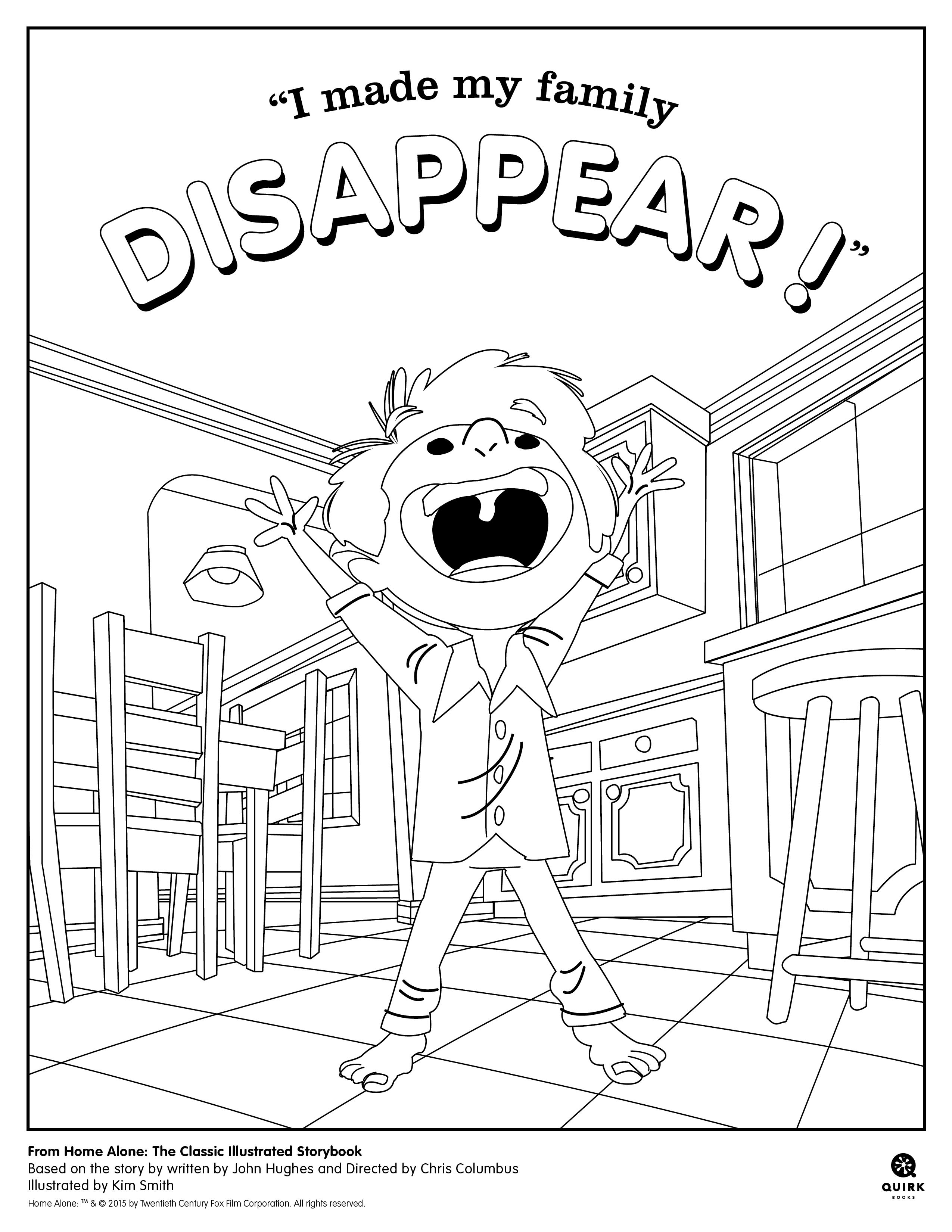 2550x3300 Coloring Page From Quirk Books' Home Alone
