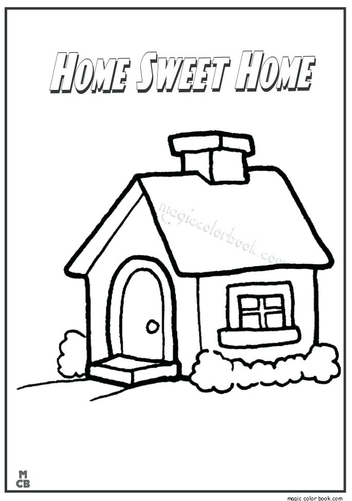 685x975 Home Coloring Pages Coloring Pages Home Activity Sheets Home