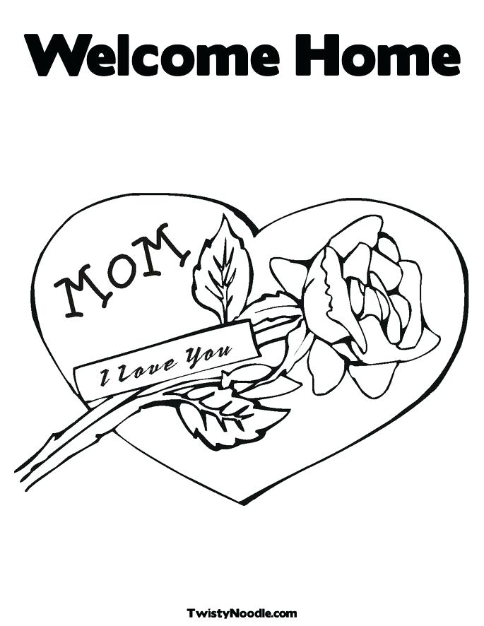 685x886 Home Coloring Pages Welcome Home Coloring Pages Kids