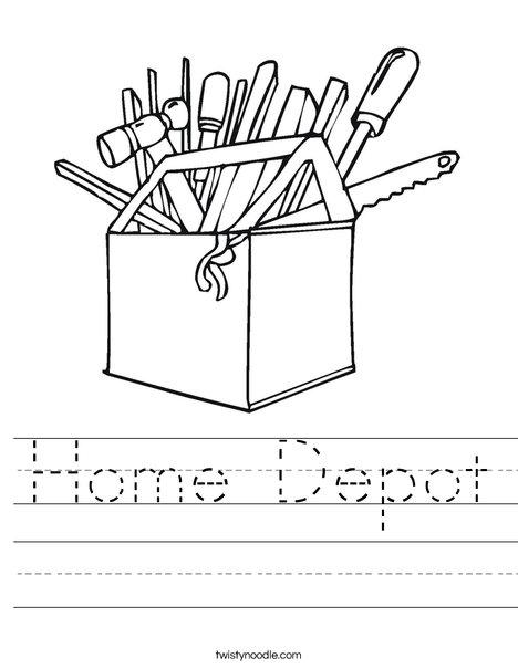 468x605 Home Depot Worksheet