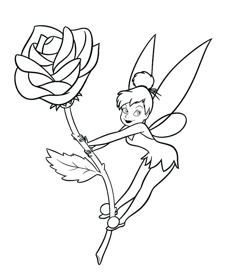 736x871 Tinkerbell To Color Bobble And Tinker Bell Coloring Page