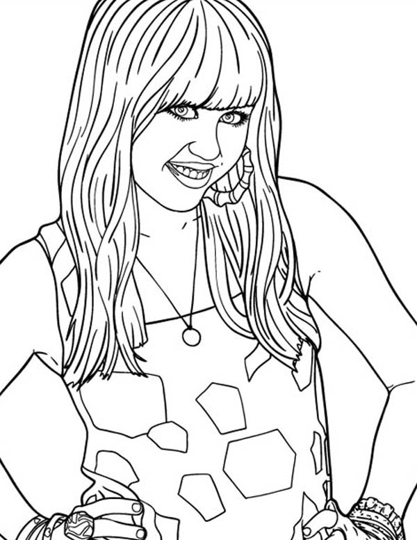 600x776 Disney Channel Hannah Montana Movie Coloring Page