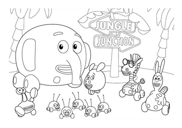 600x424 Jungle Junction The Movie Coloring Page