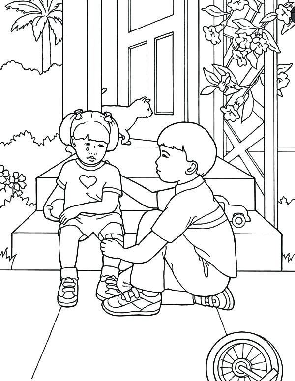 Homeless Coloring Pages
