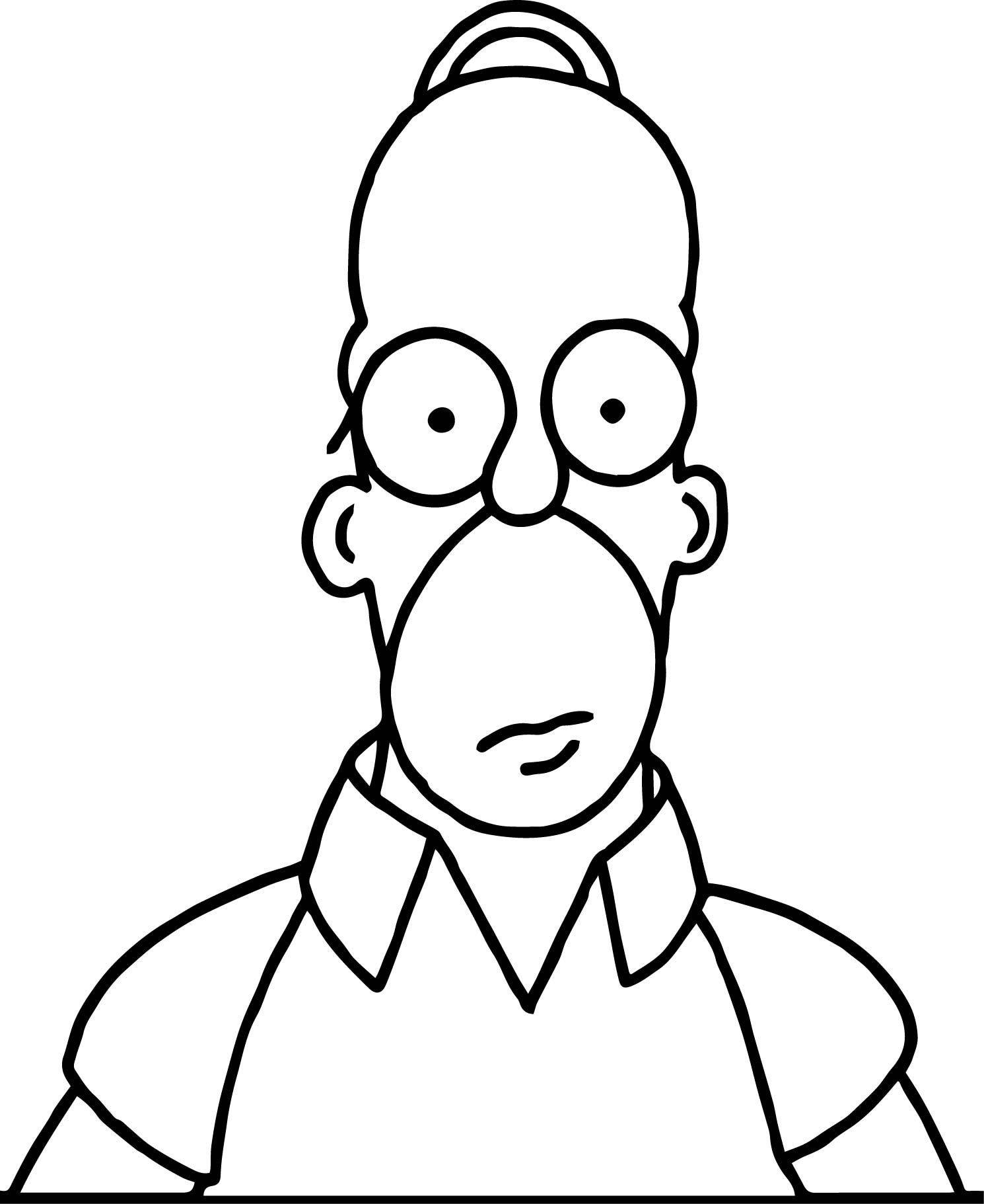 1490x1821 Homer The Simpsons Coloring Pages Wecoloringpage