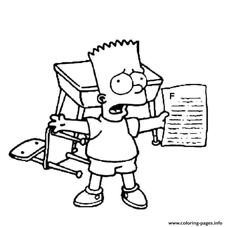 760x760 Bart Simpson Coloring Pages Printable