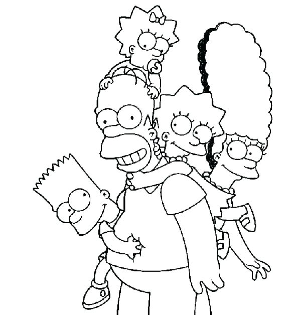 600x628 Simpsons Coloring Pages Coloring Pages Homer Colouring Pages Free