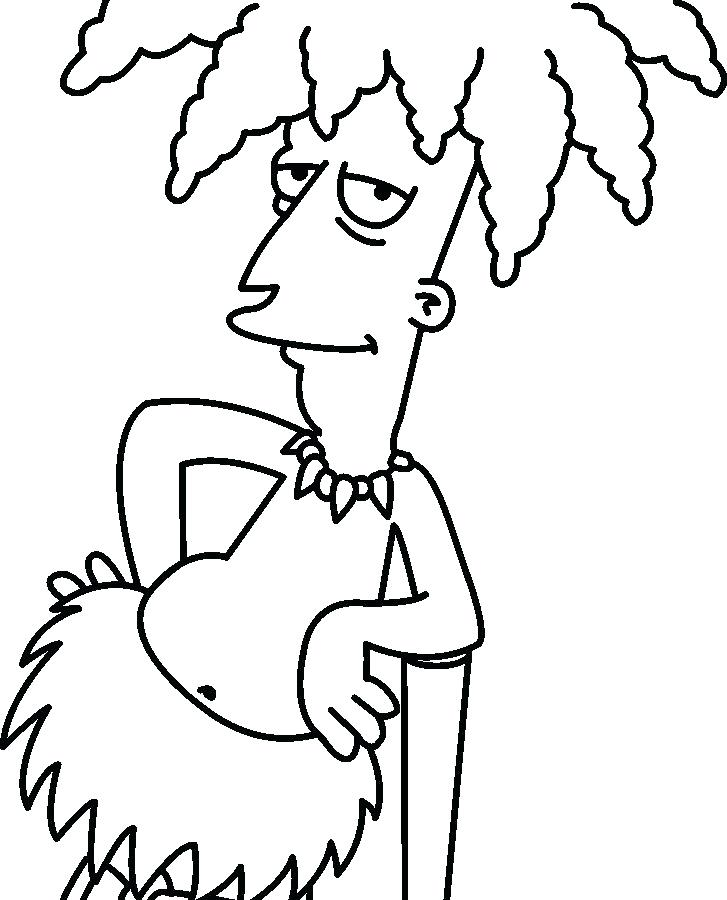 727x900 Bart Simpson Coloring Pages Free