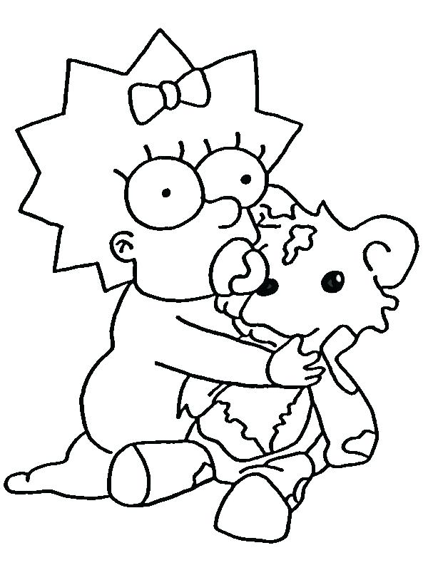 600x800 Homer Simpson Coloring Pages