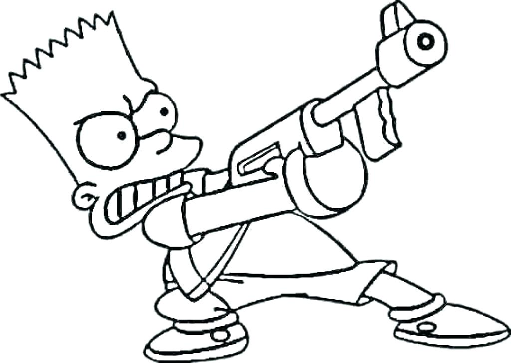 1024x727 The Simpsons Coloring Pages
