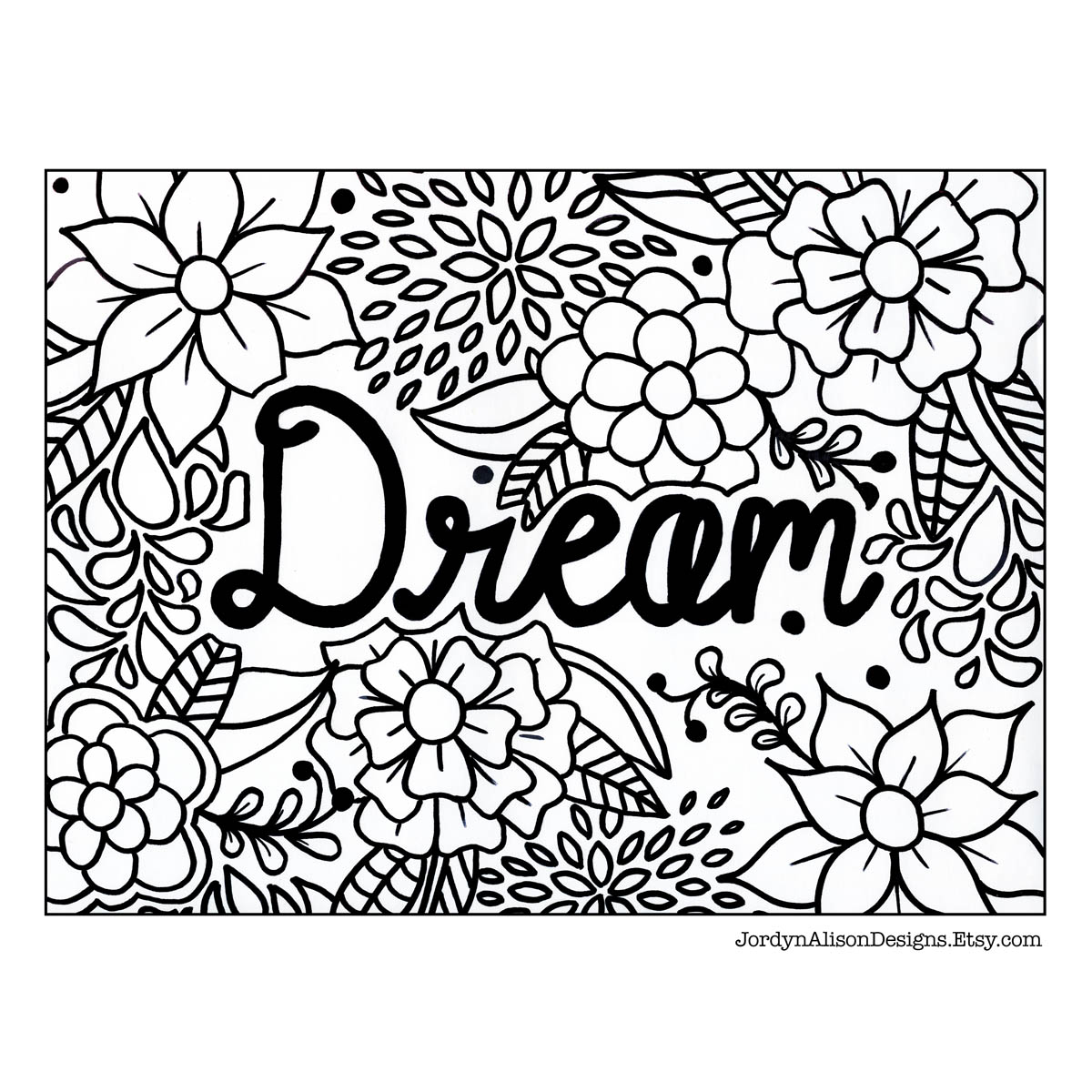 1200x1200 Dream Coloring Page