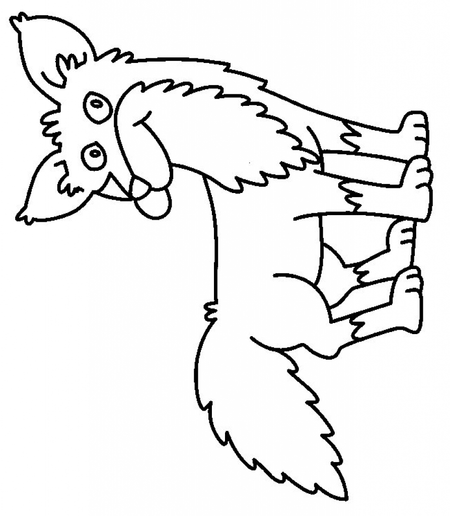 894x1024 Fox In Socks Coloring Page