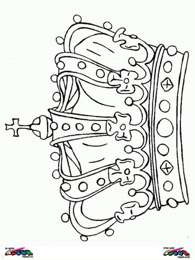 645x860 Queen's Day Coloring Page