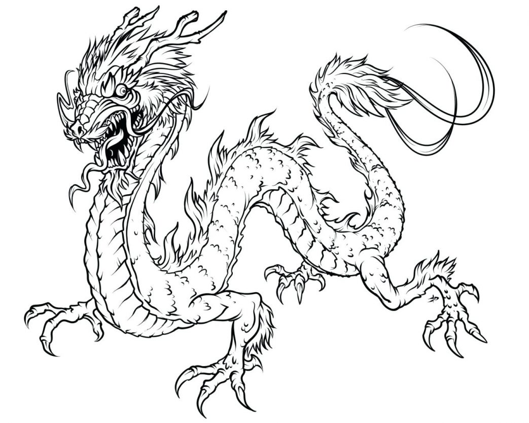 1043x834 Chinese Dragon Mask Coloring Pages Head Page Size Fire Countries