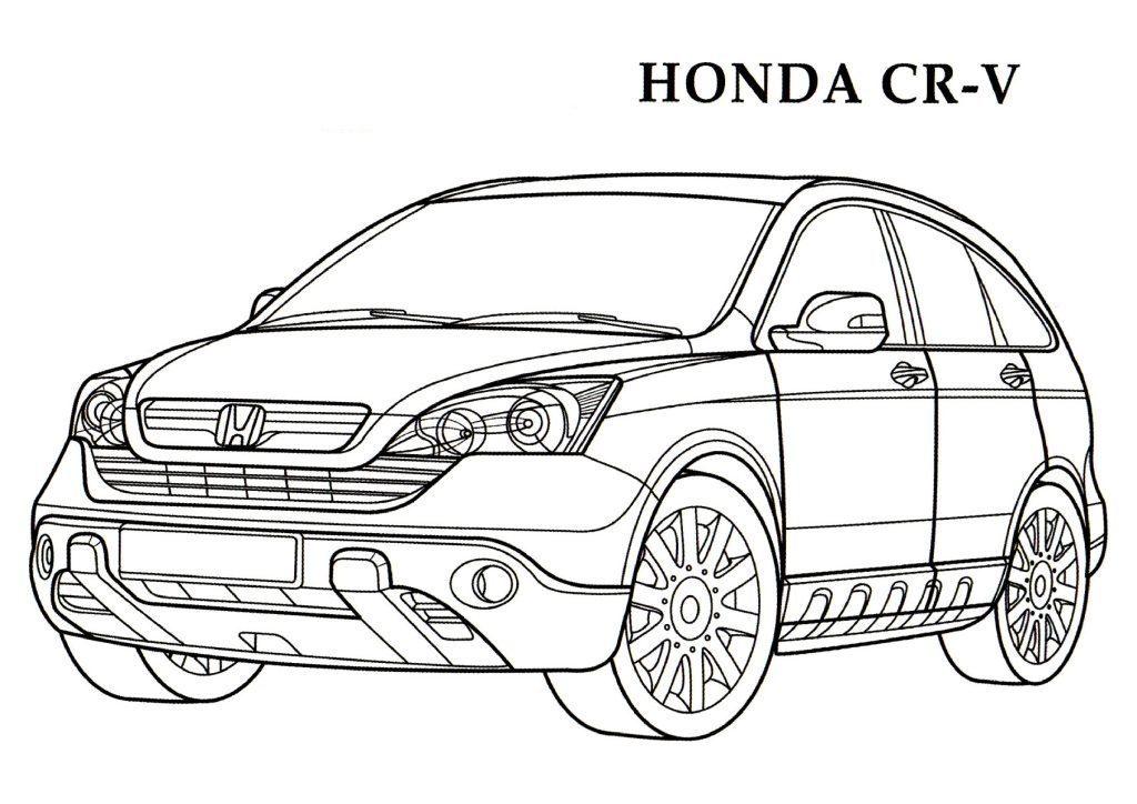 Honda Civic Coloring Pages At Getdrawings Com