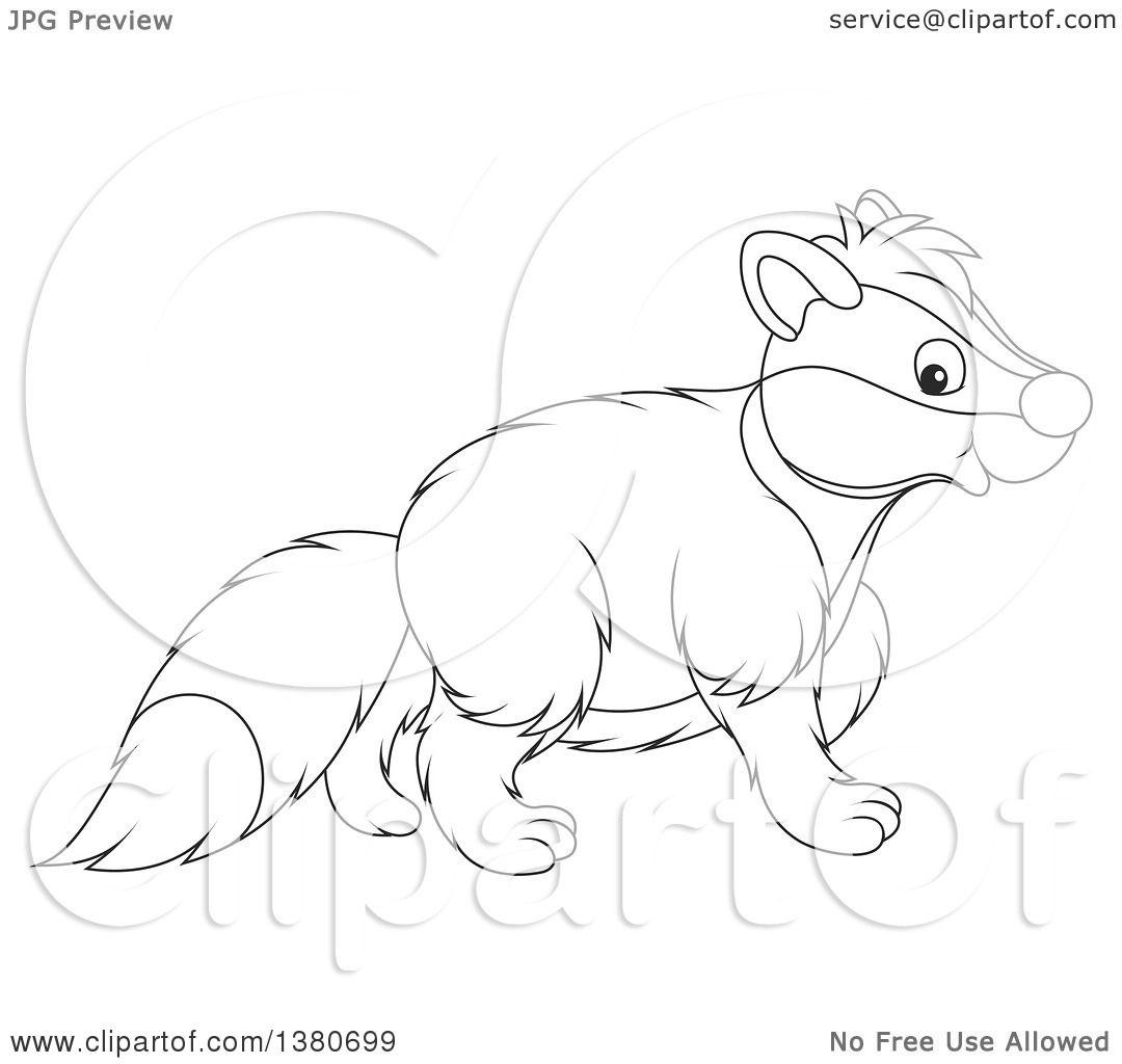 1080x1024 Reward Honey Badger Coloring Page Drawing At G