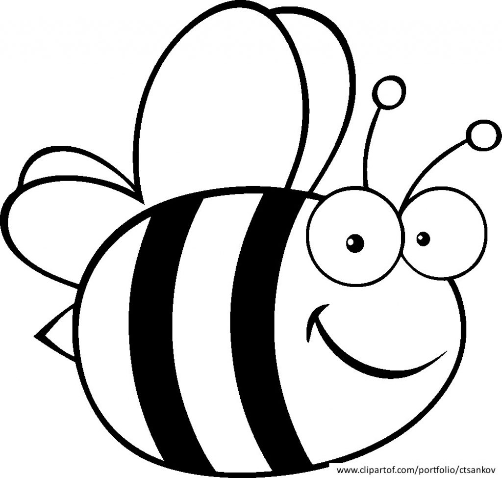 1024x974 Honey Bee Coloring Pages