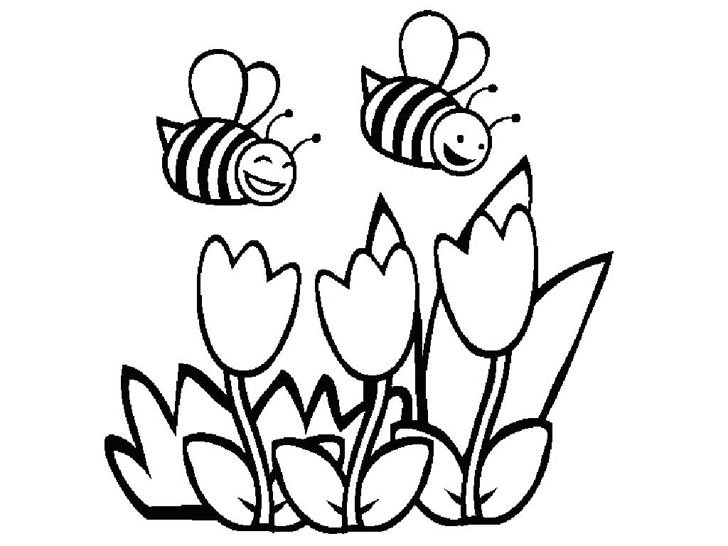 1024x768 Bee Attitudes Coloring Pages Free Printable Bumble For Kids Page