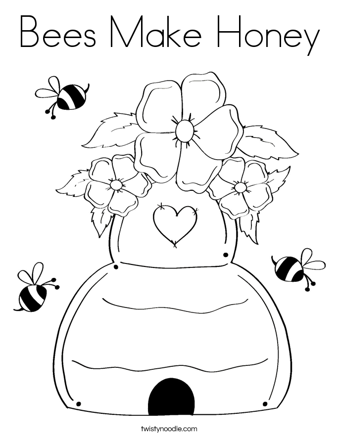 Honey Coloring Page at GetDrawings.com | Free for personal ...
