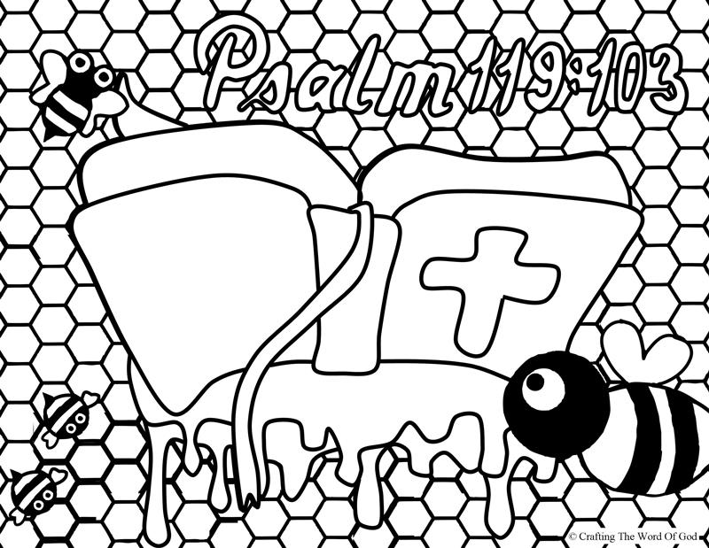800x619 Your Word Sweeter Than Honey Coloring Page Crafting The Word Of God
