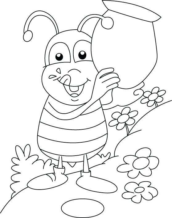 558x706 Best Photos Of Honey Bee Coloring Pages Cartoon Bumble Bee Clip