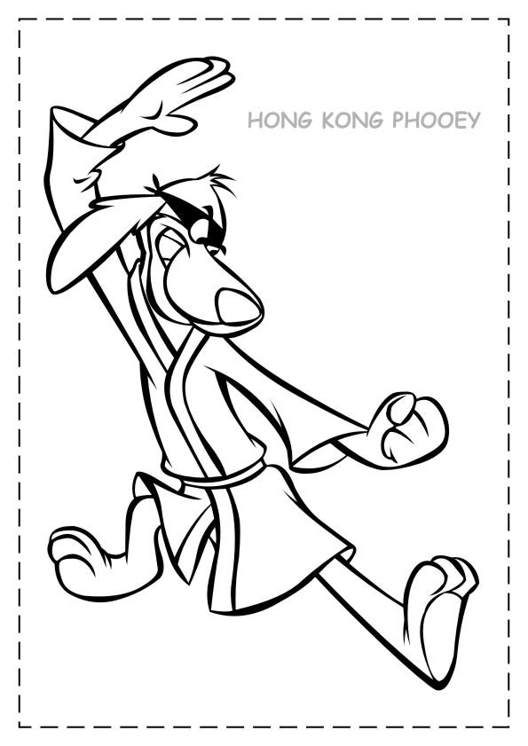 Hong Kong Phooey Coloring Pages L0 | 841x595