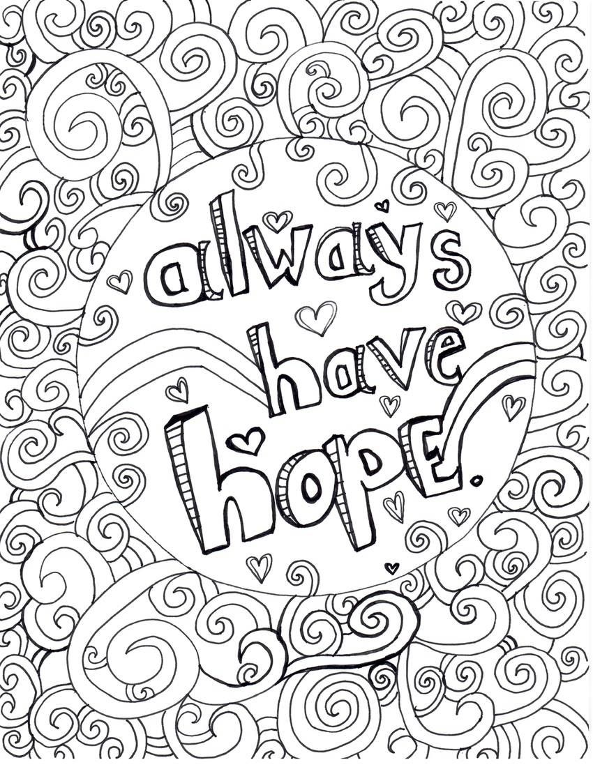 The Best Free Hope Coloring Page Images Download From 50 Free