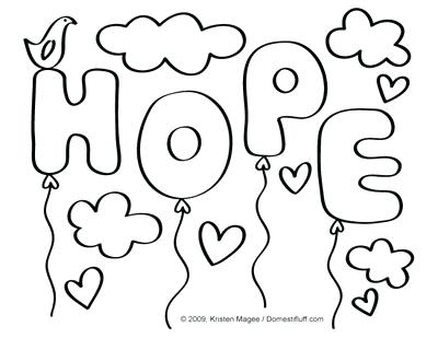 Hope Coloring Pages At Getdrawings Free Download