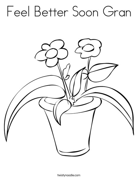 468x605 Feel Better Soon Gran Coloring Page