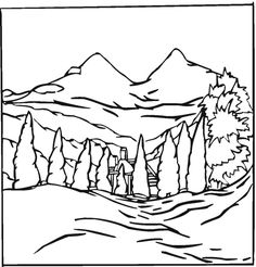 236x246 Free Landscape Coloring Pages Teaching Kids