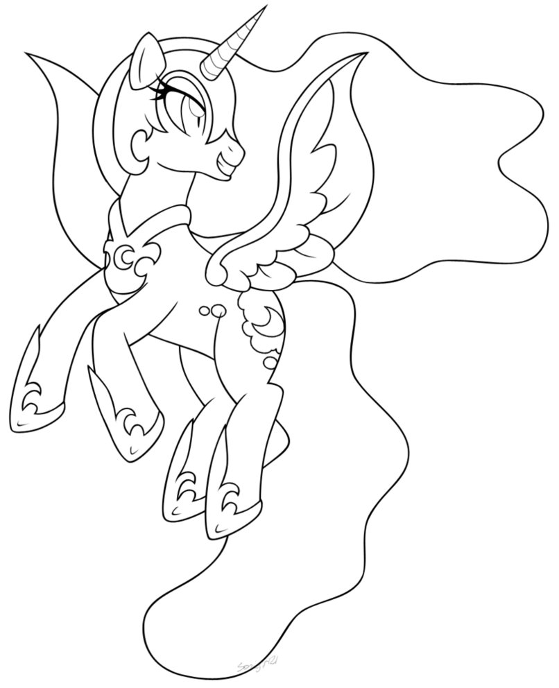 806x992 My Little Pony Nightmare Moon Coloring Pages