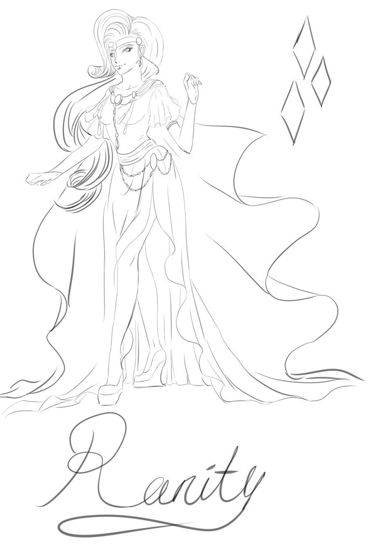 730x1095 Rarity As Human Coloring Pages