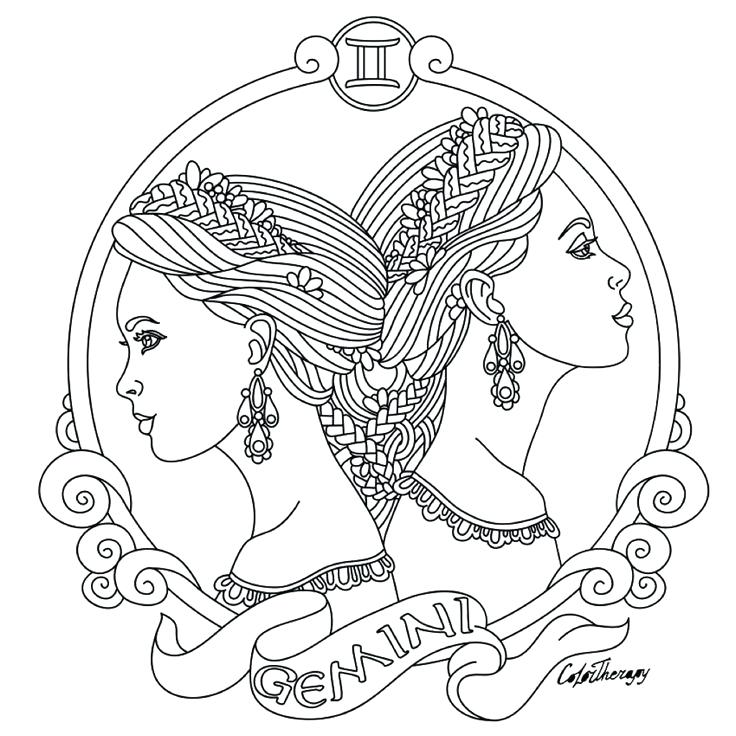 736x736 Zodiac Coloring Pages Horoscope Zodiac Coloring Pages Astrology