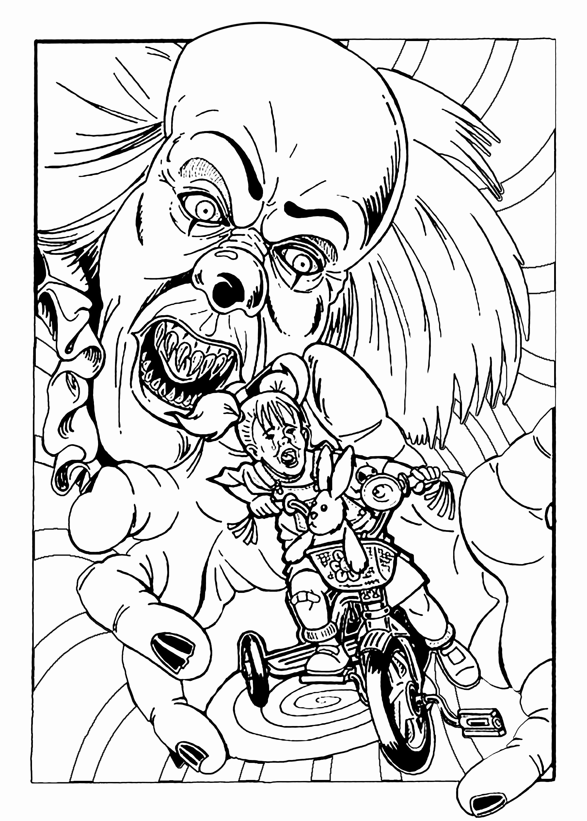Horror Coloring Pages at GetDrawings | Free download