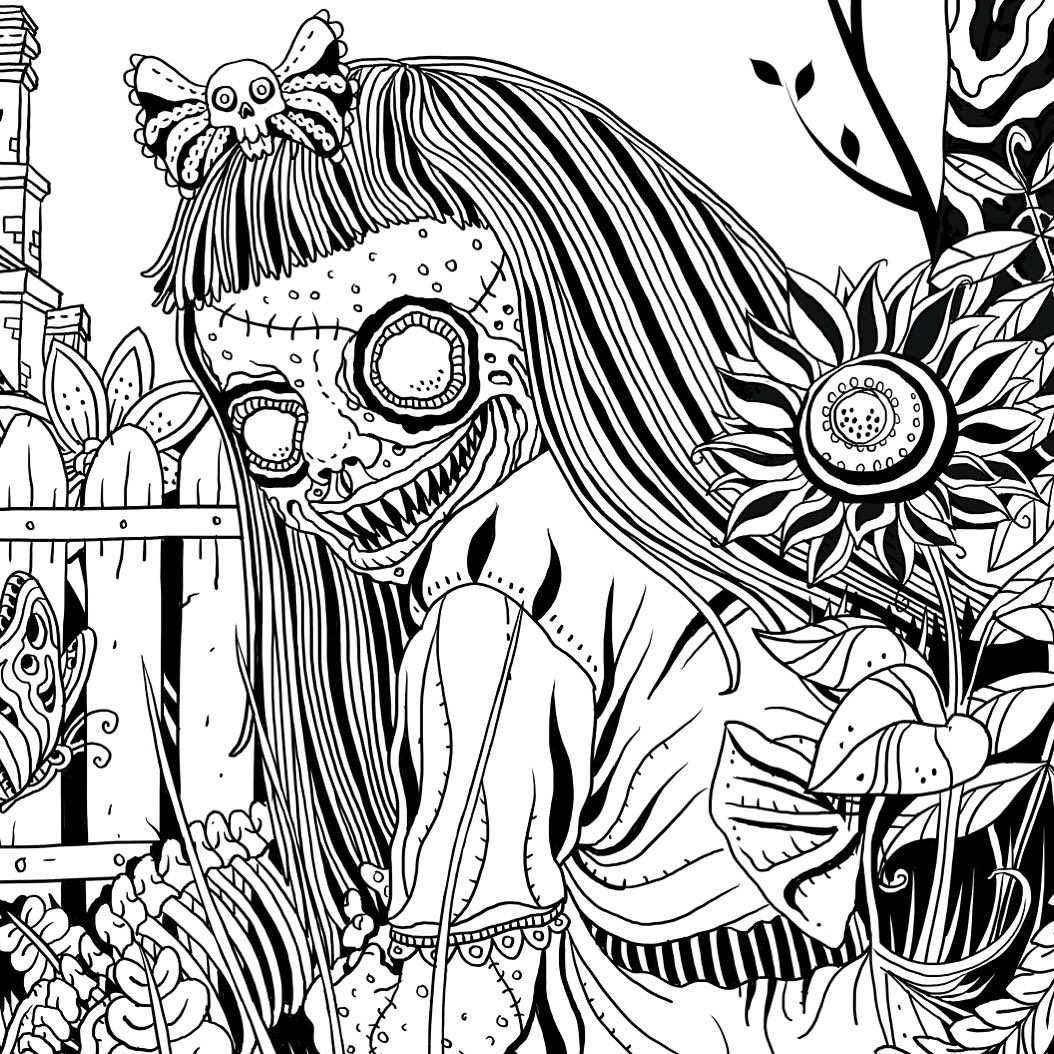 horror coloring pages at getdrawings free