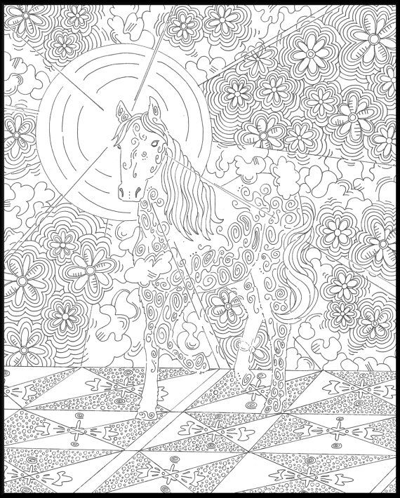 Horse Adult Coloring Pages