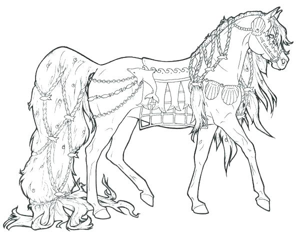 600x476 Horse Coloring Pages To Print Horse Fighting Horses Coloring Page