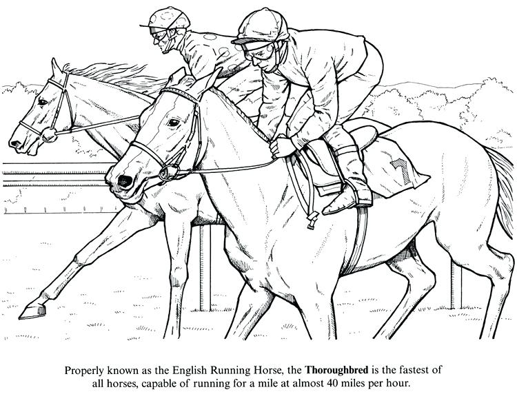 750x585 Horse Racing Coloring Pages Click To See Printable Version