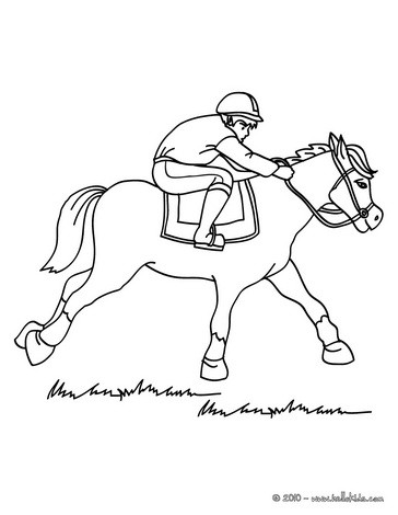 364x470 Horse Racing Coloring Pages
