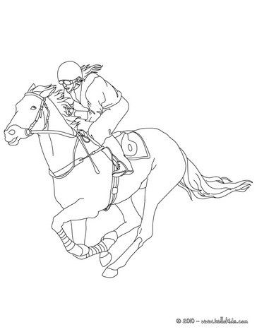 364x470 Jockey On A Galloping Horse Coloring Page More Sports Coloring