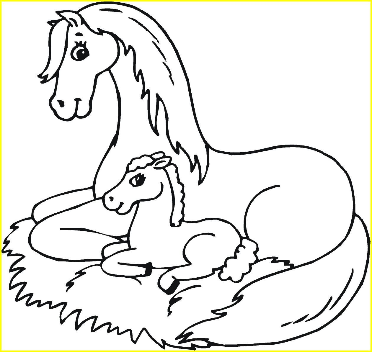 1260x1193 Marvelous Coloring Pages Of Baby Horse Printable Popular