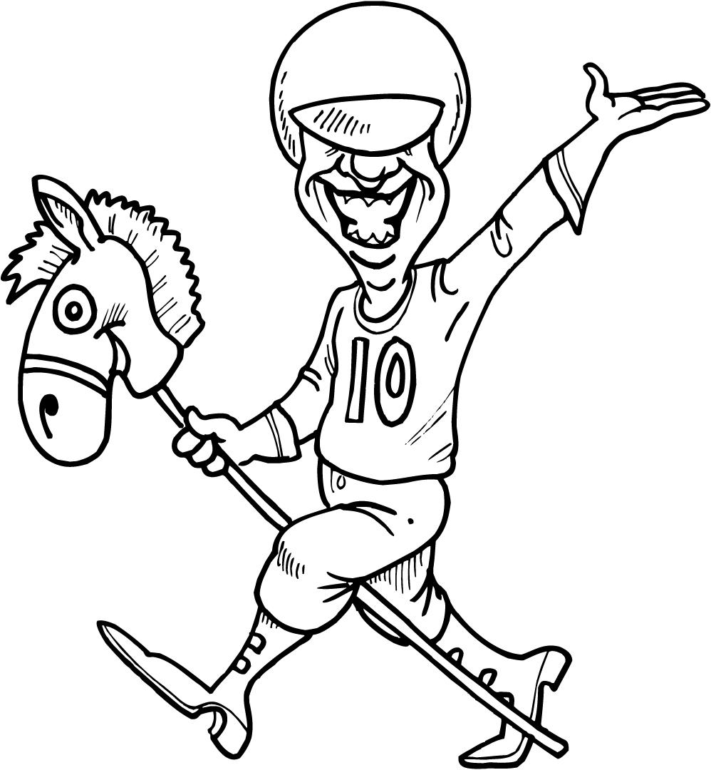 998x1080 Working Sheet Of A Horse Jockey For Kids