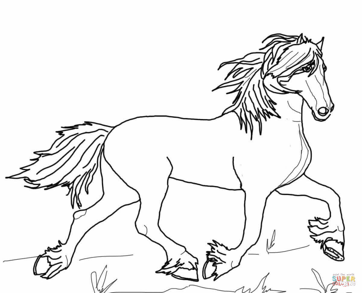 1200x972 Largest Horseback Riding Coloring Pages Friesian Horse Page Free