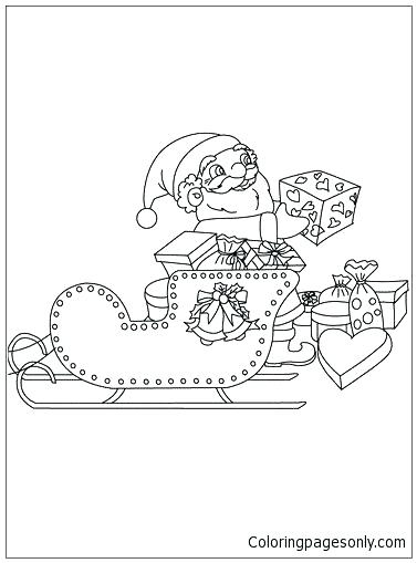 377x509 Free Printable Santa Sleigh Coloring Pages Kids Coloring Sleigh