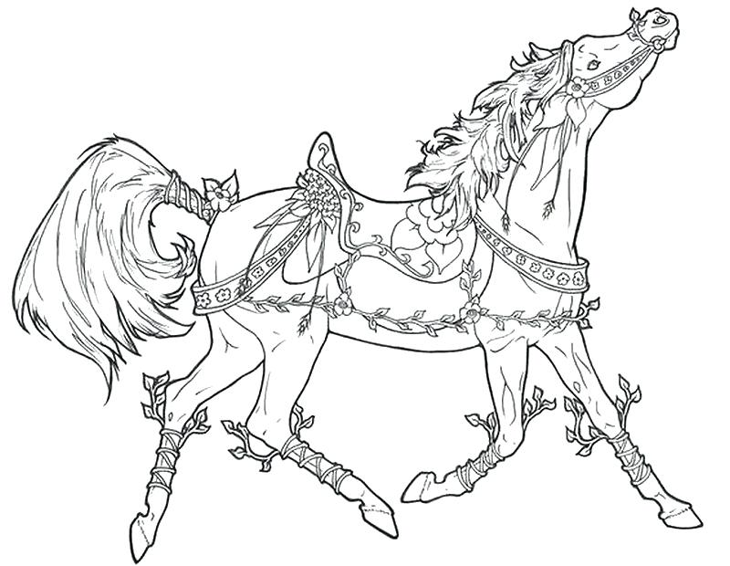 Horse And Wagon Coloring Pages