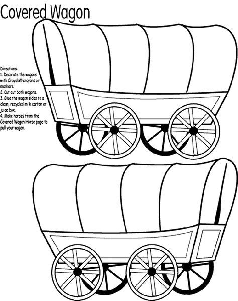 474x601 Covered Wagon Coloring Page, Print Out The Horses Page, Too