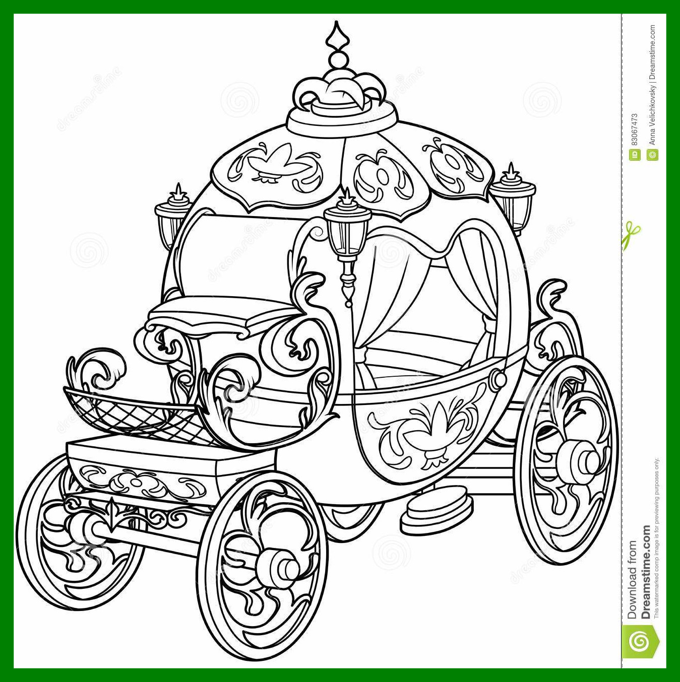 1349x1354 Horse And Carriage Coloring Page