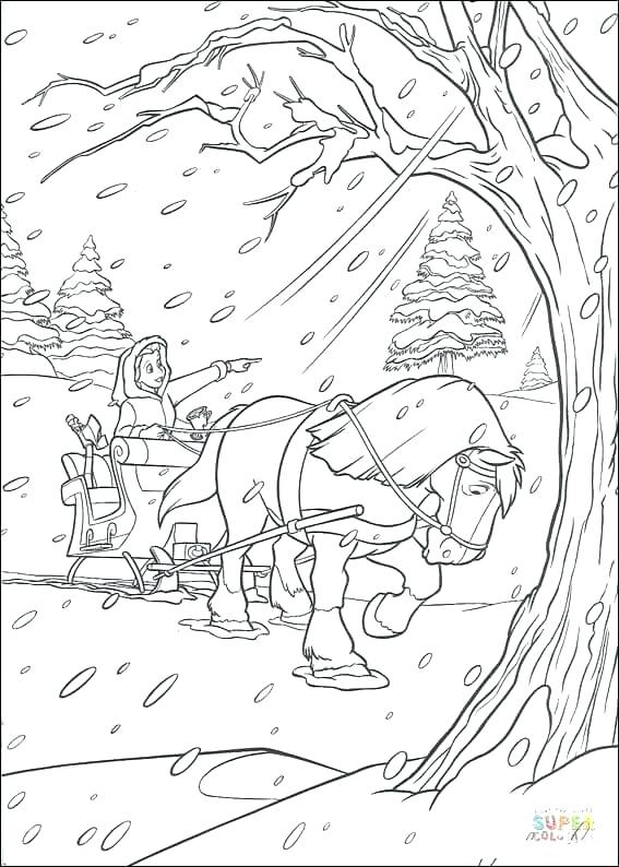 567x794 Horse Drawn Carriage Coloring Pages Horse And Carriage Coloring