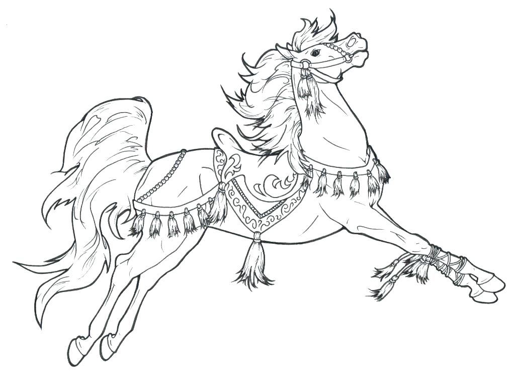 1024x748 Horse And Carriage Coloring Pages Horse Color Page Kevmey Me